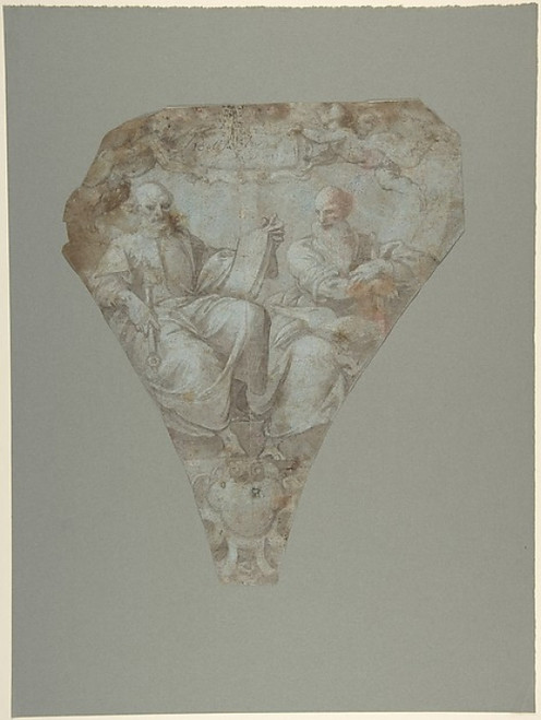 Study for a Pendentive: Figures of Saint Peter and Saint Paul Poster Print by Belisario Corenzio (18 x 24) - Item # MET338531