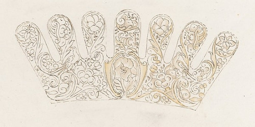 Album of designs for embroidery: bodices  gauntlets  caps  bags  page 13 (recto) Poster Print by Anonymous  Dutch  17th century (18 x 24) - Item # MET659911