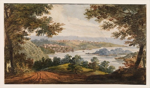 """Washington and Georgetown from the Alexandria Road Poster Print by Pavel Petrovich Svinin (1787/88  """"1839) (18 x 24) - Item # MET12758"""