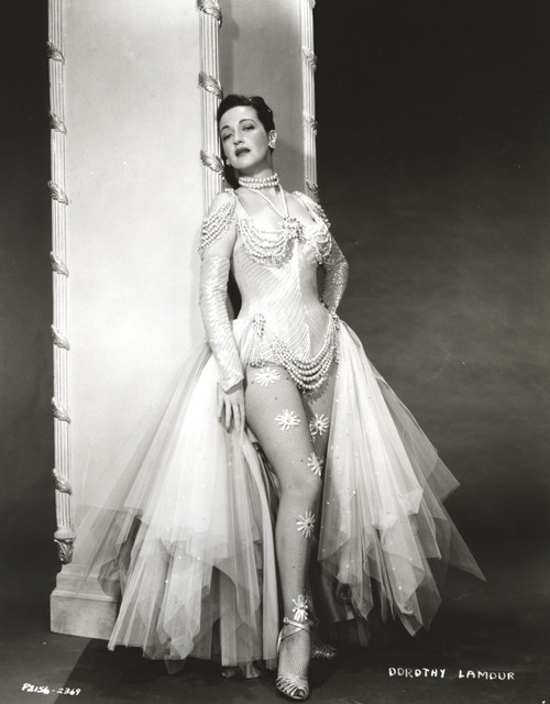 Dorothy Lamour wearing a corset and a tulle skirt Photo Print - Item # VARCEL689890