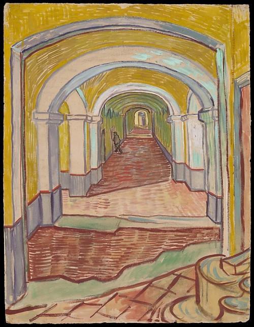 Corridor in the Asylum Poster Print by Vincent van Gogh (Dutch  Zundert 1853  ‰ÛÏ1890 Auvers-sur-Oise) (18 x 24) - Item # MET336327