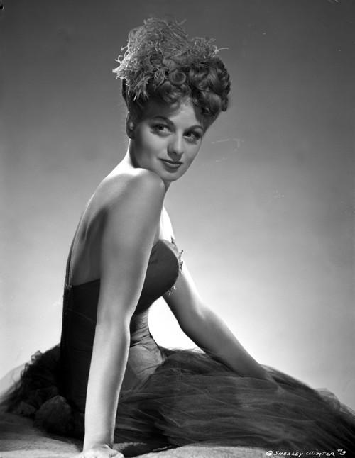 Shelley Winters Portrait in Black Silk Dress Photo Print - Item # VARCEL705552