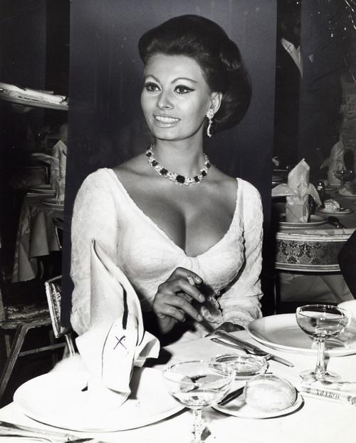 Sophia Loren in a restaurant Photo Print - Item # VARGLP384201