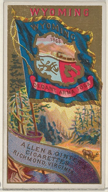 Wyoming  from Flags of the States and Territories (N11) for Allen & Ginter Cigarettes Brands Poster Print (18 x 24) - Item # MET407596
