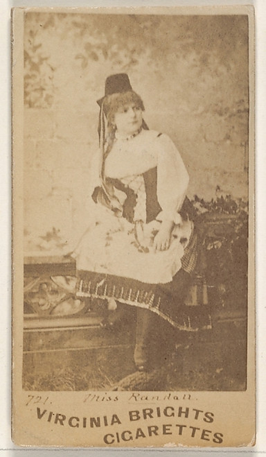 Card 721  Miss Randall  from the Actors and Actresses series (N45  Type 1) for Virginia Brights Cigarettes Poster Print (18 x 24) - Item # MET415138