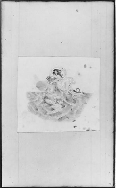 "Mythological Figure on Horseback (from Sketchbook) Poster Print by John William Casilear (American  New York 1811  ""1893 Saratoga Springs  New York) (18 x 24) - Item # MET16524"