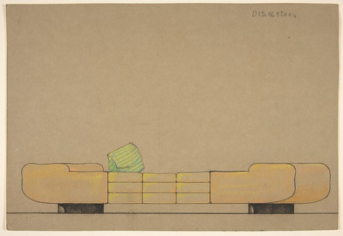 """Elevation of a Daybed on Black Bases Poster Print by Guglielmo Ulrich (Italian  1904  """"1977) (18 x 24) - Item # MET346257"""