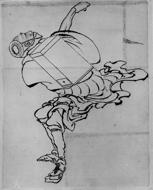 """Fan Peddler Poster Print by School of Katsushika Hokusai (Japanese  Tokyo (Edo) 1760  """"1849 Tokyo (Edo)) (18 x 24) - Item # MET57285"""