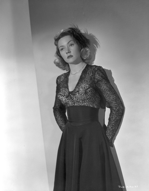 Gloria Grahame Posed in a Black Dress Photo Print - Item # VARCEL695762