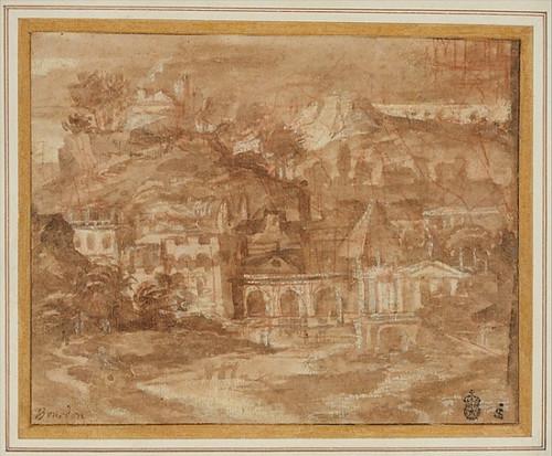A Classical Landscape with Buildings by a River Poster Print by Sébastien Bourdon (French  Montpellier 1616–1671 Paris) (18 x 24) - Item # MET336409
