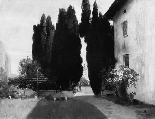 """Italian Garden Poster Print by Friedrich August von Kaulbach (German  Munich 1850  """"1920 Ohlstadt bei Murnau) (18 x 24) - Item # MET436814"""