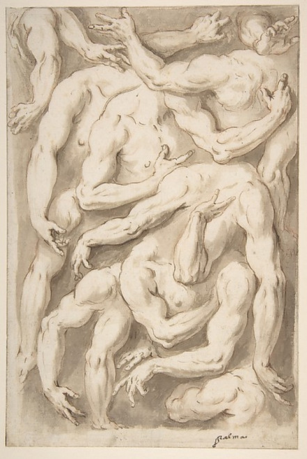 Studies of Arms  Shoulders and Hands Poster Print by Jacopo Palma the Younger (Italian  Venice ca. 1548–1628 Venice) (18 x 24) - Item # MET340424
