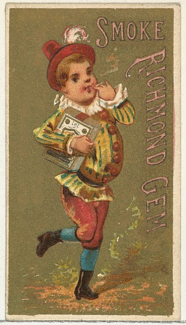 From the Girls and Children series (N65) promoting Richmond Gem Cigarettes for Allen & Ginter brand tobacco products Poster Print (18 x 24) - Item # MET422655