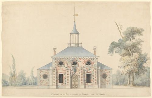 """An Elevation for the Projected Mill at Méréville Poster Print by François Joseph Belanger (French  Paris 1744  """"1818 Paris) (18 x 24) - Item # MET361993"""