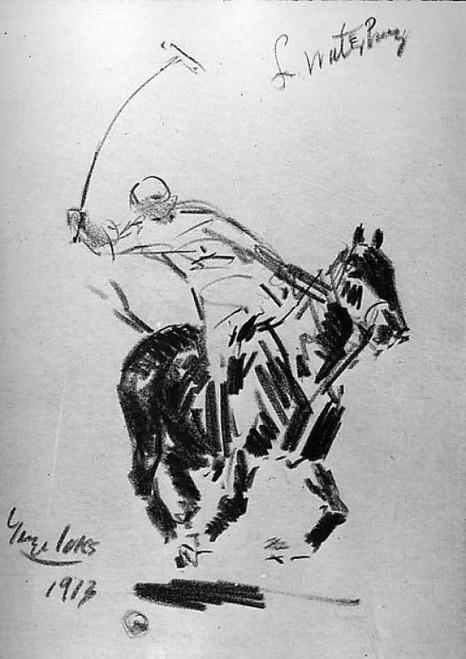 "L. Waterbury at Polo Poster Print by George Luks (American  Williamsport  Pennsylvania 1866  ""1933 New York) (18 x 24) - Item # MET19267"