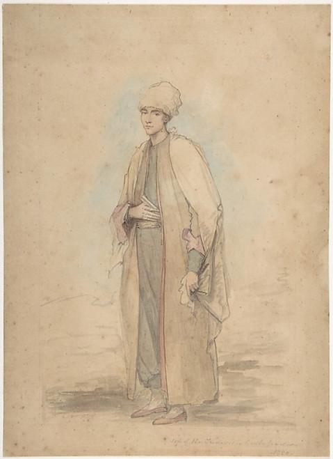 "Son of the Tunisian Ambassador Poster Print by Ozias Humphrey (British  Honiton  Devon 1742  ""1810 London) (18 x 24) - Item # MET341814"