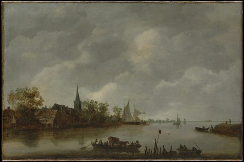 River View with a Village Church Poster Print by Style of Jan van Goyen (Dutch  mid-17th century) (18 x 24) - Item # MET436560
