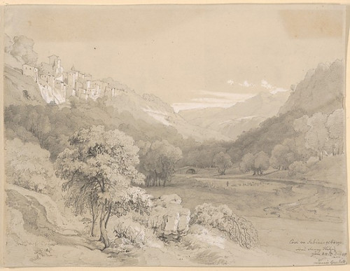 "A View of Cavi in the Sabine Hills Poster Print by Louis Gurlitt (German  Altona 1812  ""1897 Naundorf) (18 x 24) - Item # MET428622"