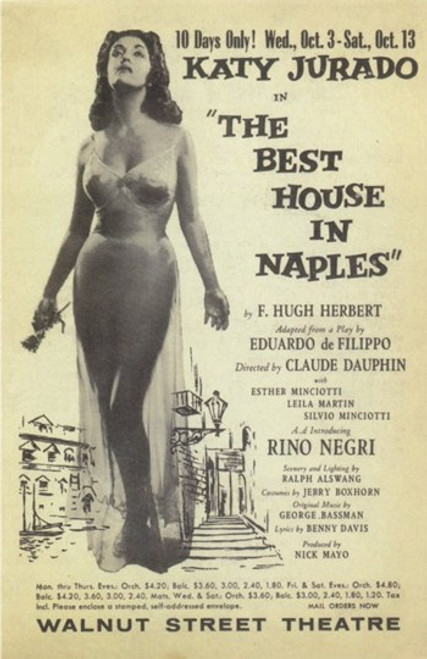 The (Broadway) Best House in Naples Movie Poster (11 x 17) - Item # MOV409225