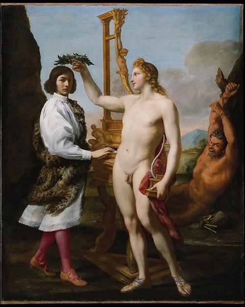 "Marcantonio Pasqualini (1614  ""1691) Crowned by Apollo Poster Print by Andrea Sacchi (Italian  Rome ca. 1599  ""1661 Rome) (18 x 24) - Item # MET437593"
