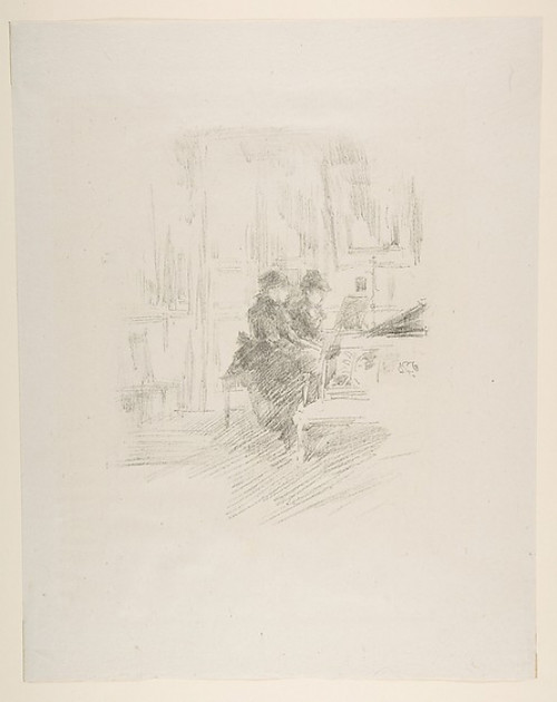 """The Duet  No. 2 Poster Print by James McNeill Whistler (American  Lowell  Massachusetts 1834  """"1903 London) (18 x 24) - Item # MET372841"""