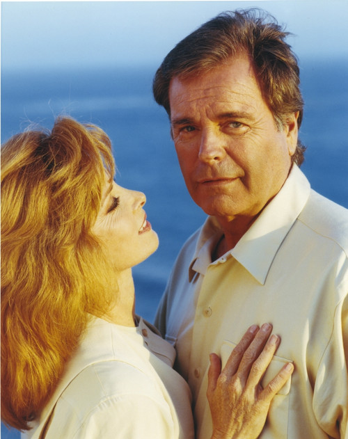 Hart To Hart Man in Polo and Woman in White Blouse Photo Print - Item # VARCEL697448