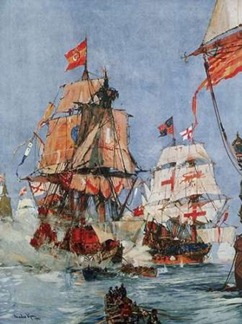 Armada Illustration Poster Print by Charles Dixon - Item # VARPDX281985