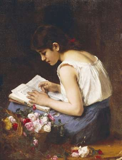 A Girl Reading Poster Print by Alexei Alexeiewitsch Harlamoff - Item # VARPDX266496