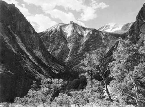 Paradise Valley, Kings River Canyon, proVintageed as a national park, California, 1936 Poster Print by Ansel Adams - Item # VARPDX460813