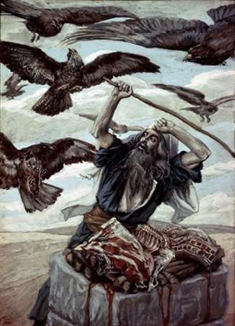 Abraham Guarding His Sacrifice Poster Print by James Tissot - Item # VARPDX280193