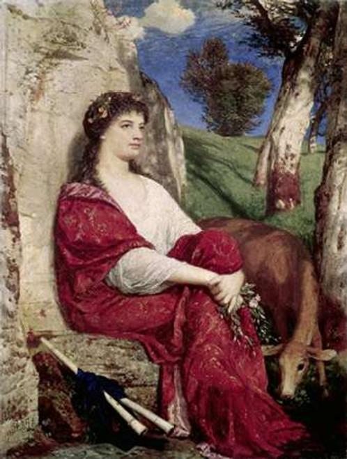 Euterpe; Muse of Music and Lyric Poetry Poster Print by Arnold Bocklin - Item # VARPDX276767
