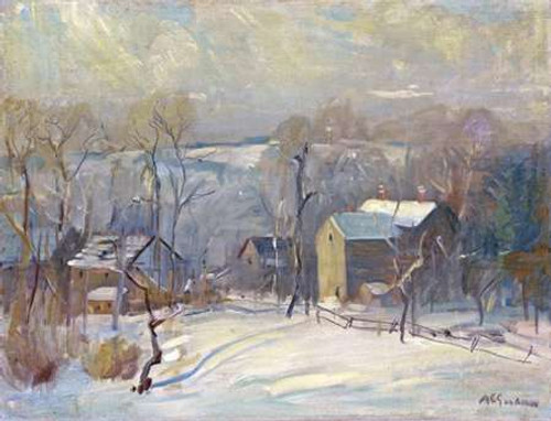 Village In Snow Poster Print by Arthur Clifton Goodwin - Item # VARPDX268025