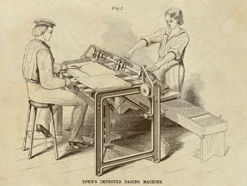 Towns Improved Paging Machine Poster Print by Inventions - Item # VARPDX376292