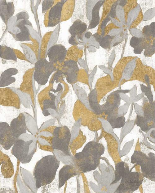 Painted Tropical Screen II Gray Gold Poster Print by Silvia Vassileva - Item # VARPDX36148