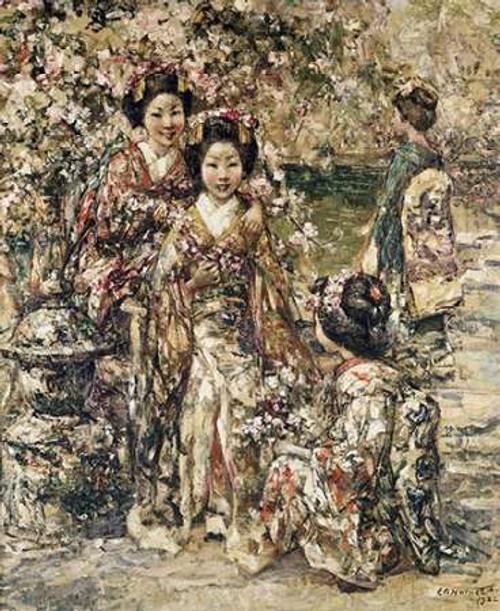 In a Kyoto Garden Poster Print by Edward Atkinson Hornel - Item # VARPDX266586