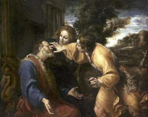 Tobias Heals His Blind Father Poster Print by Annibale Carracci - Item # VARPDX276983