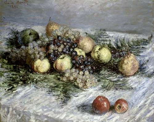 Still Life with Pears and Grapes Poster Print by Claude Monet - Item # VARPDX278708