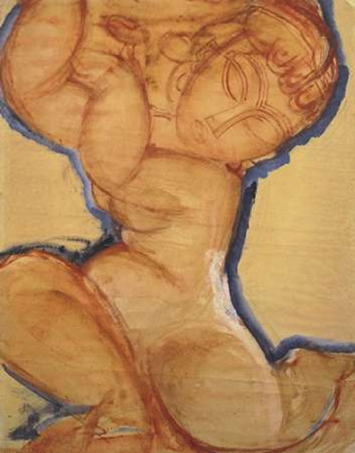Rose Caryatid With Blue Border Poster Print by Amedeo Modigliani - Item # VARPDX373727