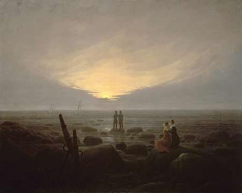 Moonrise Over the Sea Poster Print by Caspar David Friedrich - Item # VARPDX282105