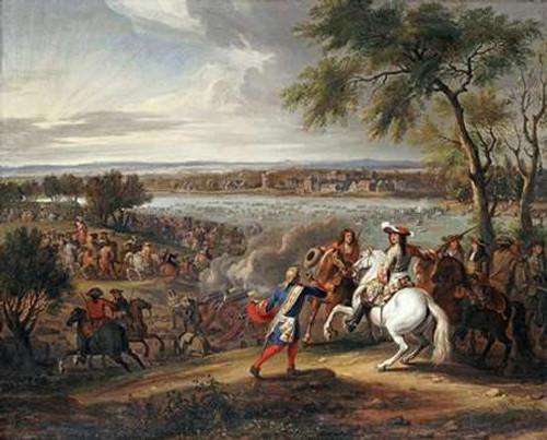 King Louis XIV of France Crossing The Rhine Poster Print by Adam Frans Van Der Meullen - Item # VARPDX267488
