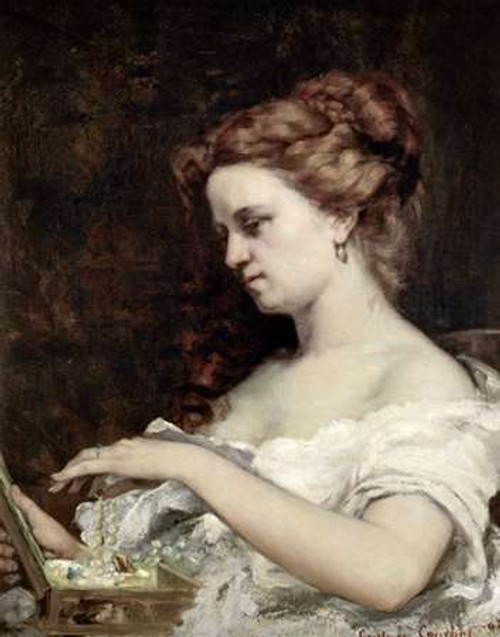 Woman With Jewels Poster Print by Gustave Courbet - Item # VARPDX277133