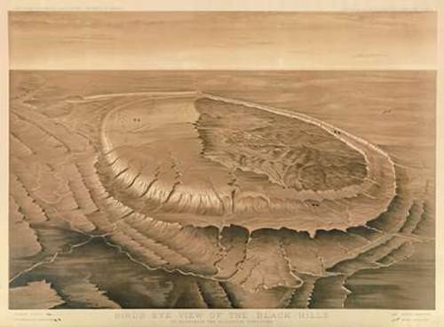 Birds eye view of the Black Hills, 1879 Poster Print by Henry Newton - Item # VARPDX295197