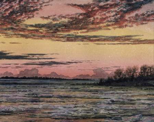 Sunset Over the Ice - Custom Crop Poster Print by Frederic Edwin Church - Item # VARPDX463283