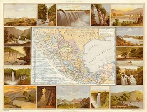 Carta Hydrografica, 1885 Poster Print by Antonio Garcia Cubas - Item # VARPDX295046