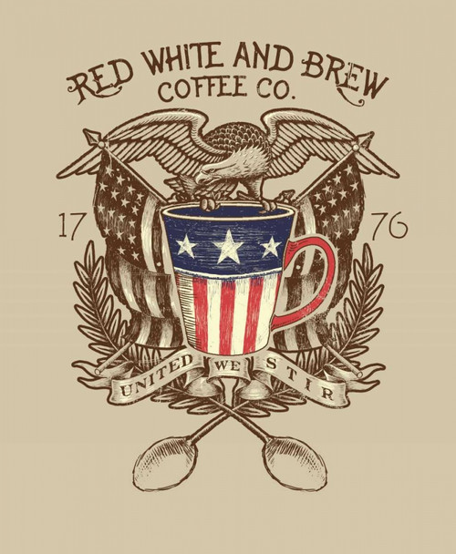 Red, White and Brew Poster Print by Jim Baldwin - Item # VARPDXBM2090