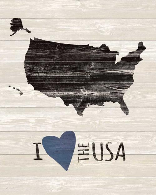 I Heart the USA Poster Print by Jo Moulton - Item # VARPDXJM15568
