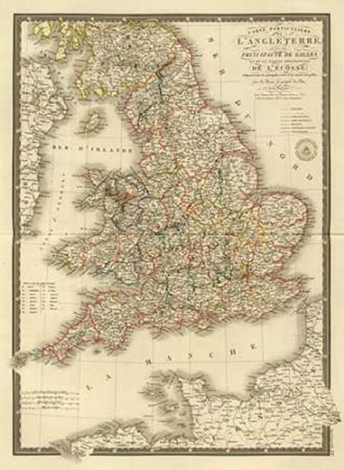 Angleterre, Galles, 1827 Poster Print by Adrien Hubert Brue - Item # VARPDX295488