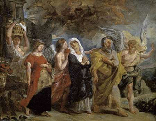 """Copy After """"The Flight of Lot"""" By Rubens Poster Print by Eugene Delacroix - Item # VARPDX277361"""