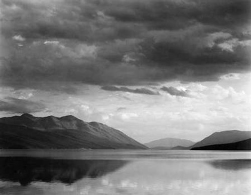 Evening, McDonald Lake, Glacier National Park, Montana - National Parks and Monuments, 1941 Poster Print by Ansel Adams - Item # VARPDX460733