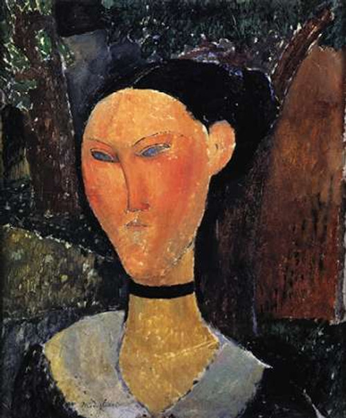 Woman With A Velvet Ribbon Poster Print by Amedeo Modigliani - Item # VARPDX373741